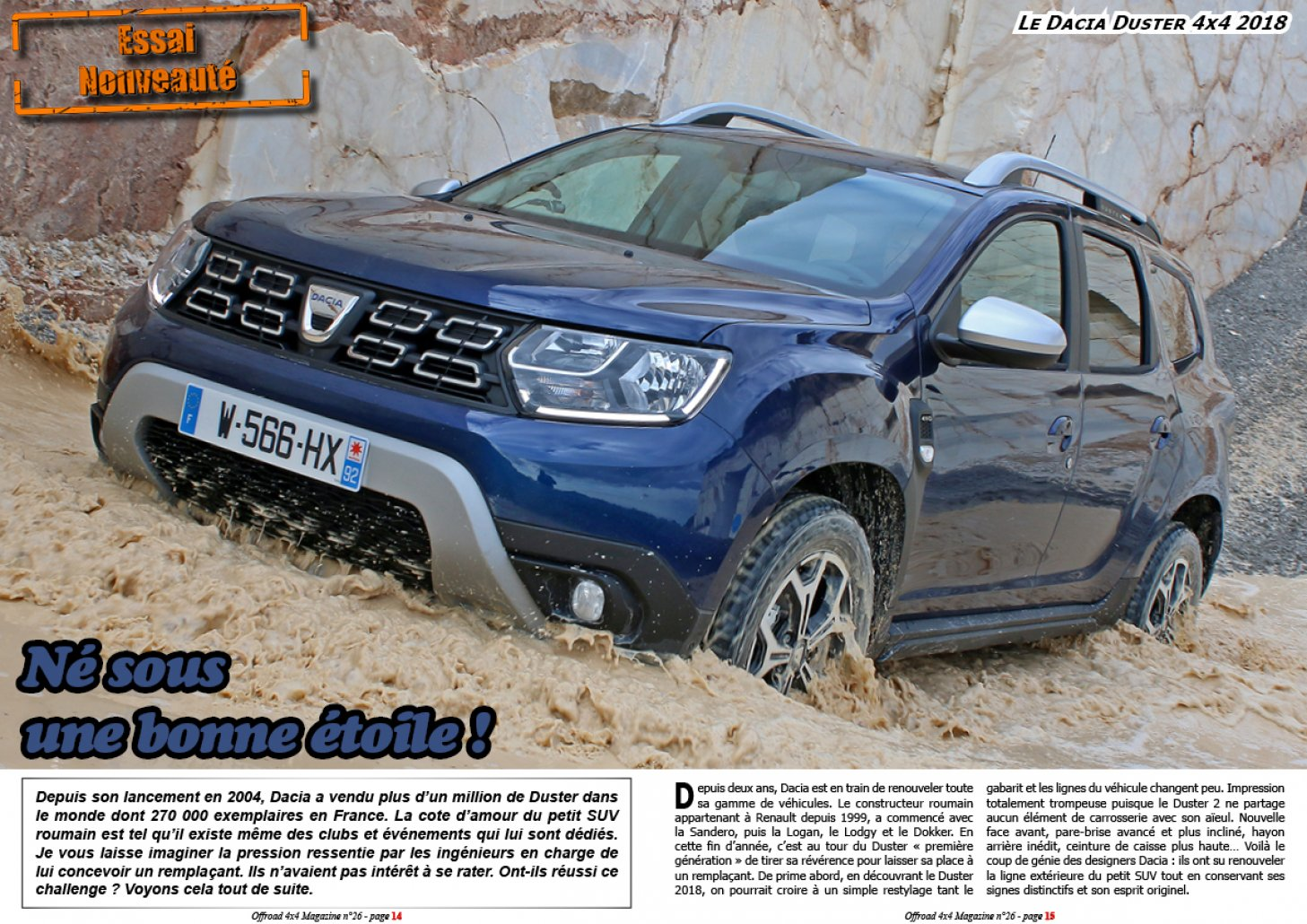 offroad 4x4 magazine l 39 essai du dacia duster 4x4 2018. Black Bedroom Furniture Sets. Home Design Ideas