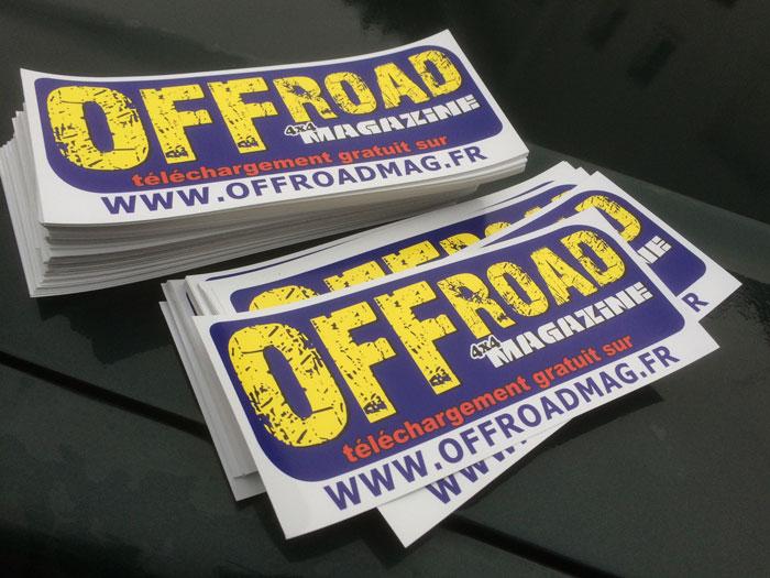 Autocollant Offroad 4x4 Magazine