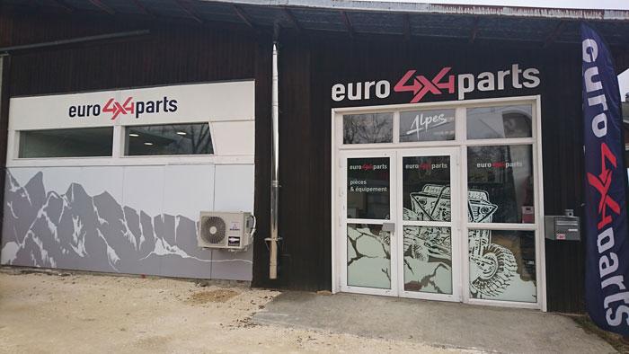 Euro4x4parts Alpes vitrine