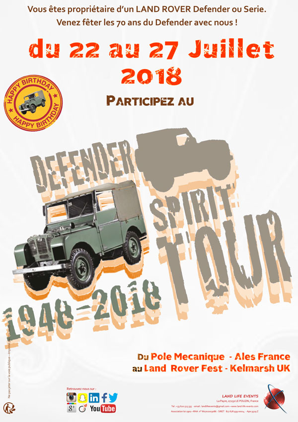 Defender Spirit Tour 2018
