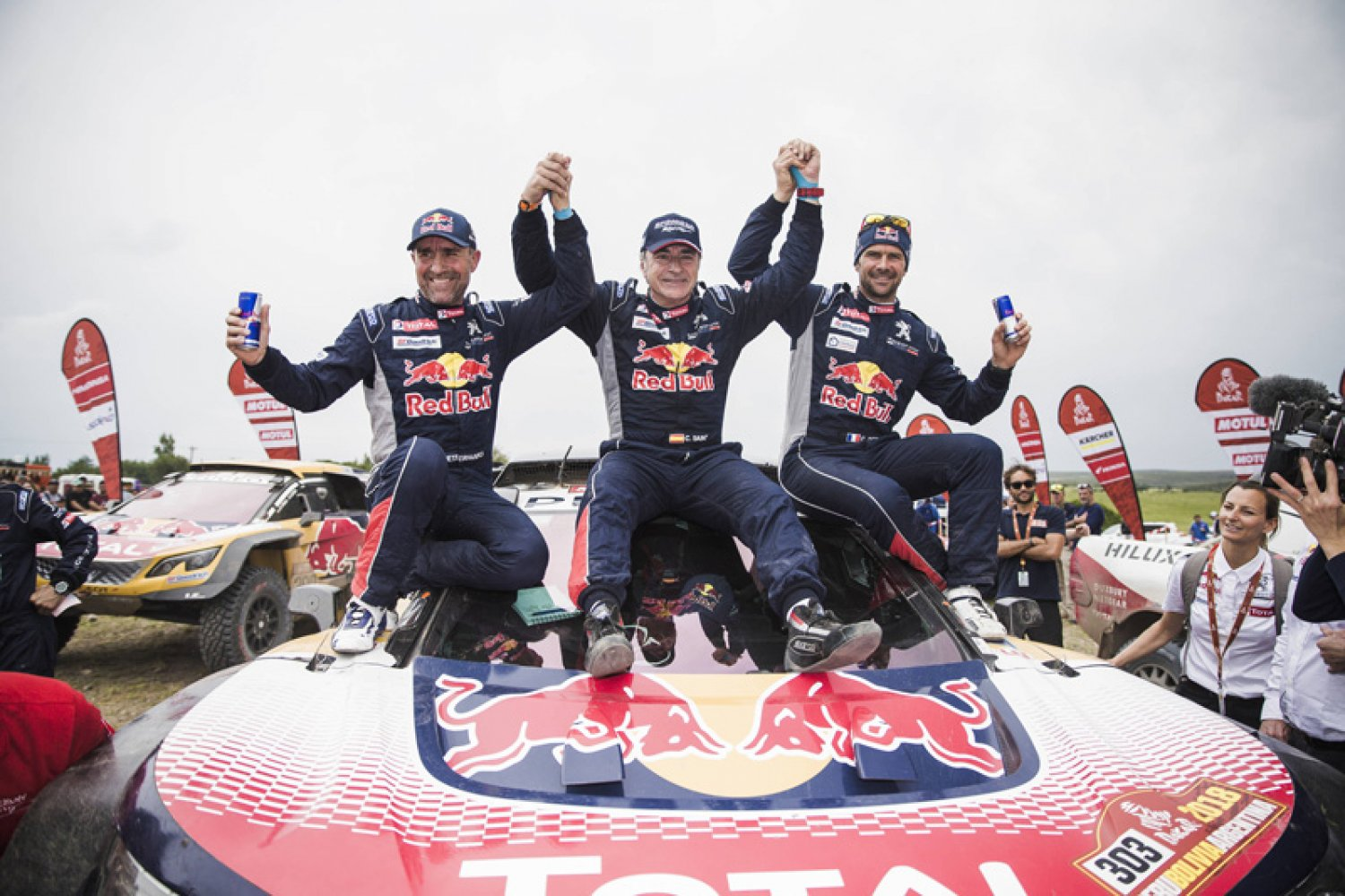 La Dream Team Peugeot chez X-raid