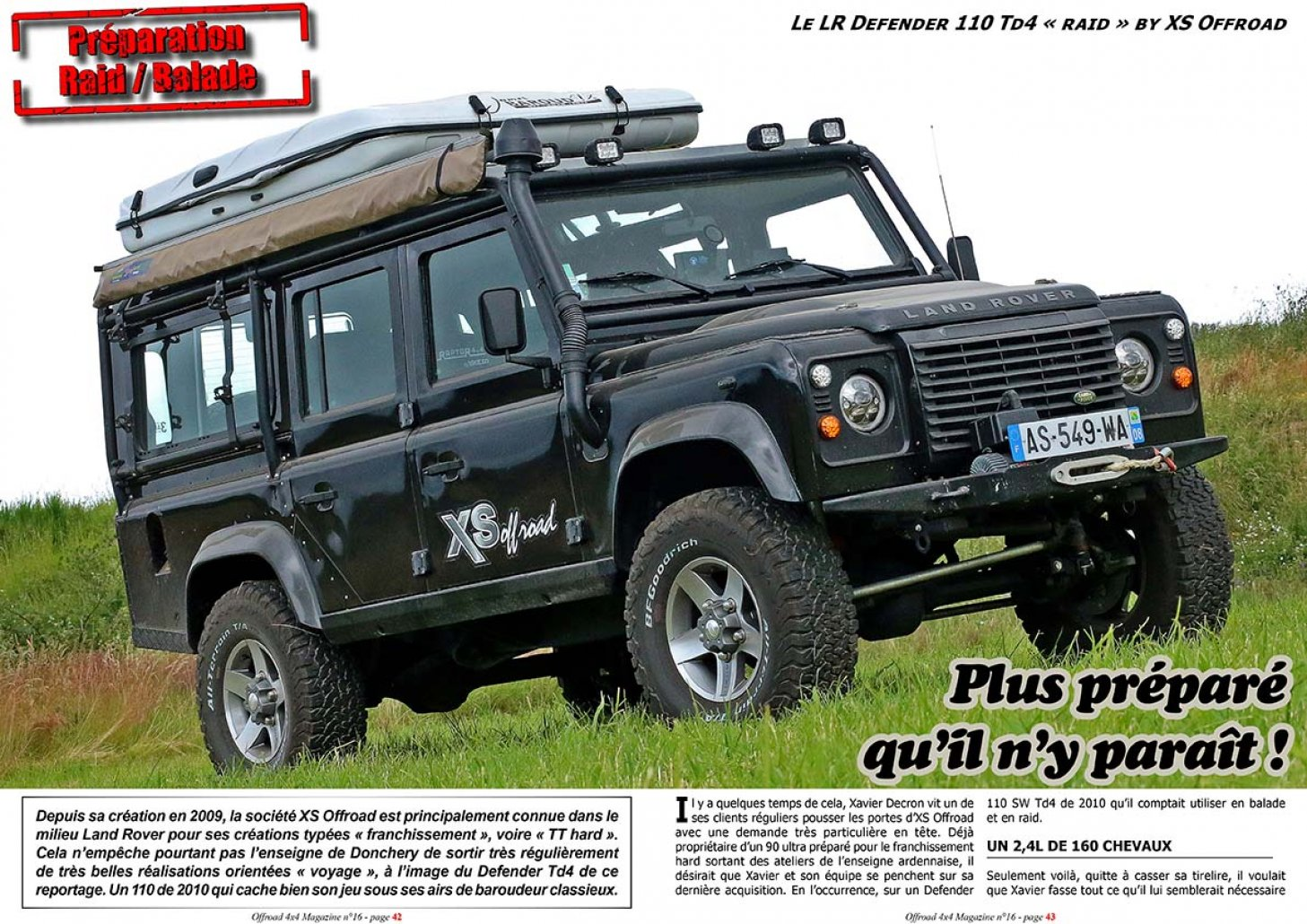 Le Defender 110 Raid by XS Offroad