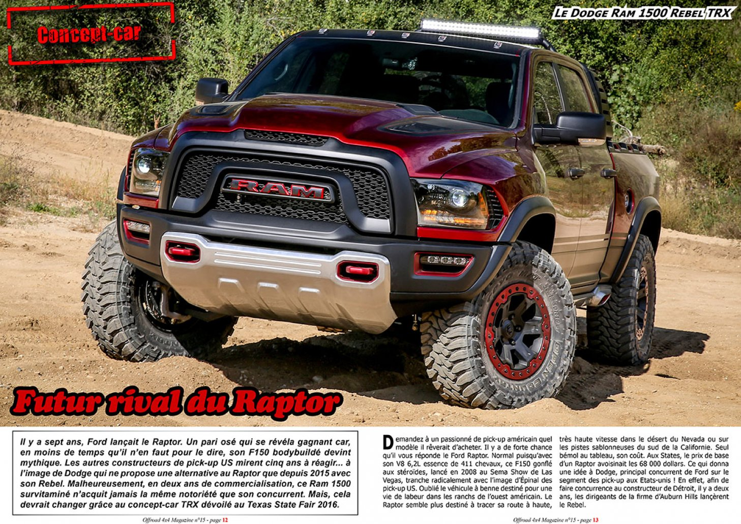 Le Dodge Ram Rebel TRX