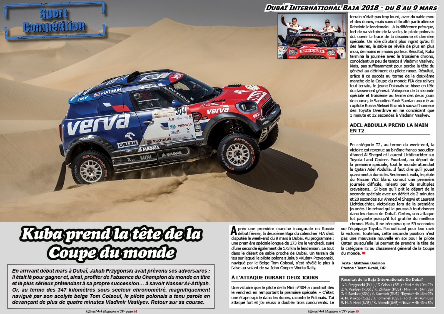 La Dubaï International Baja 2018