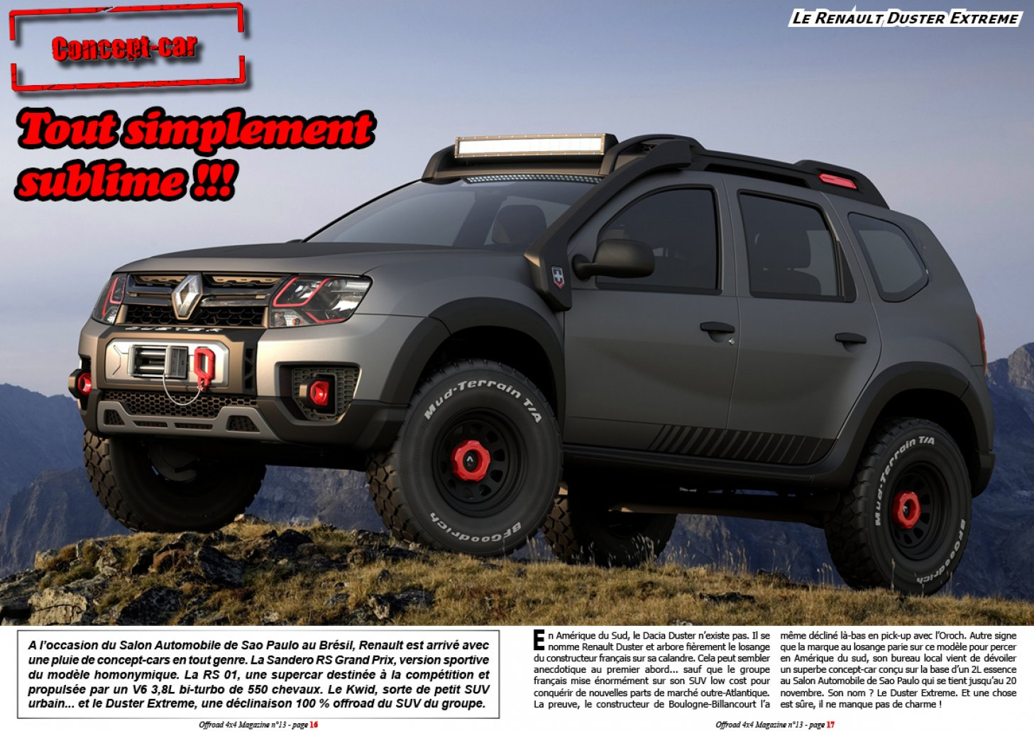 Le Renault Duster Extreme Concept