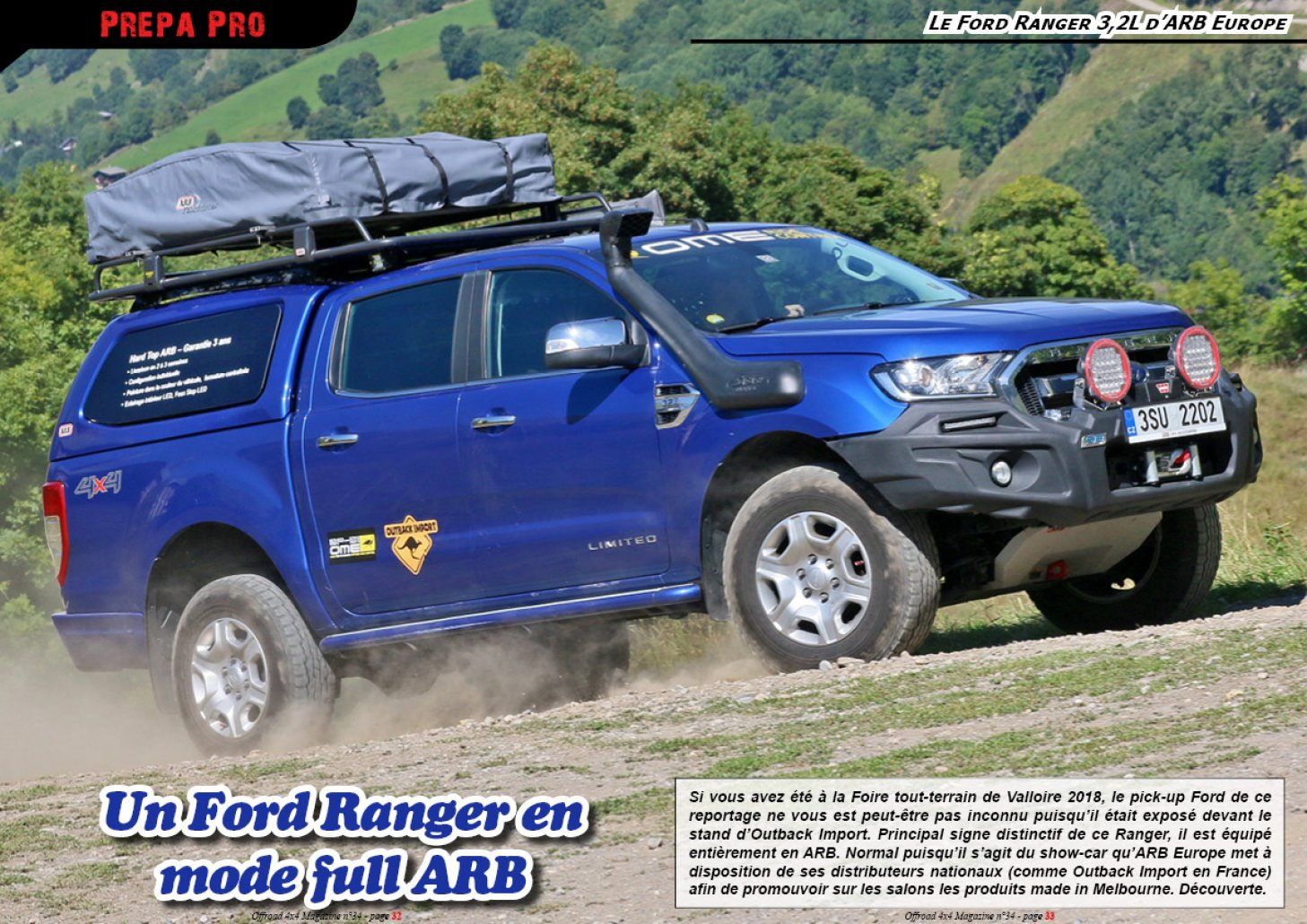 Le Ford Ranger 3,2L d' ARB Europe