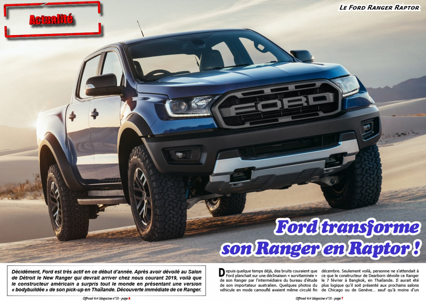 Ford transforme son Ranger en Raptor