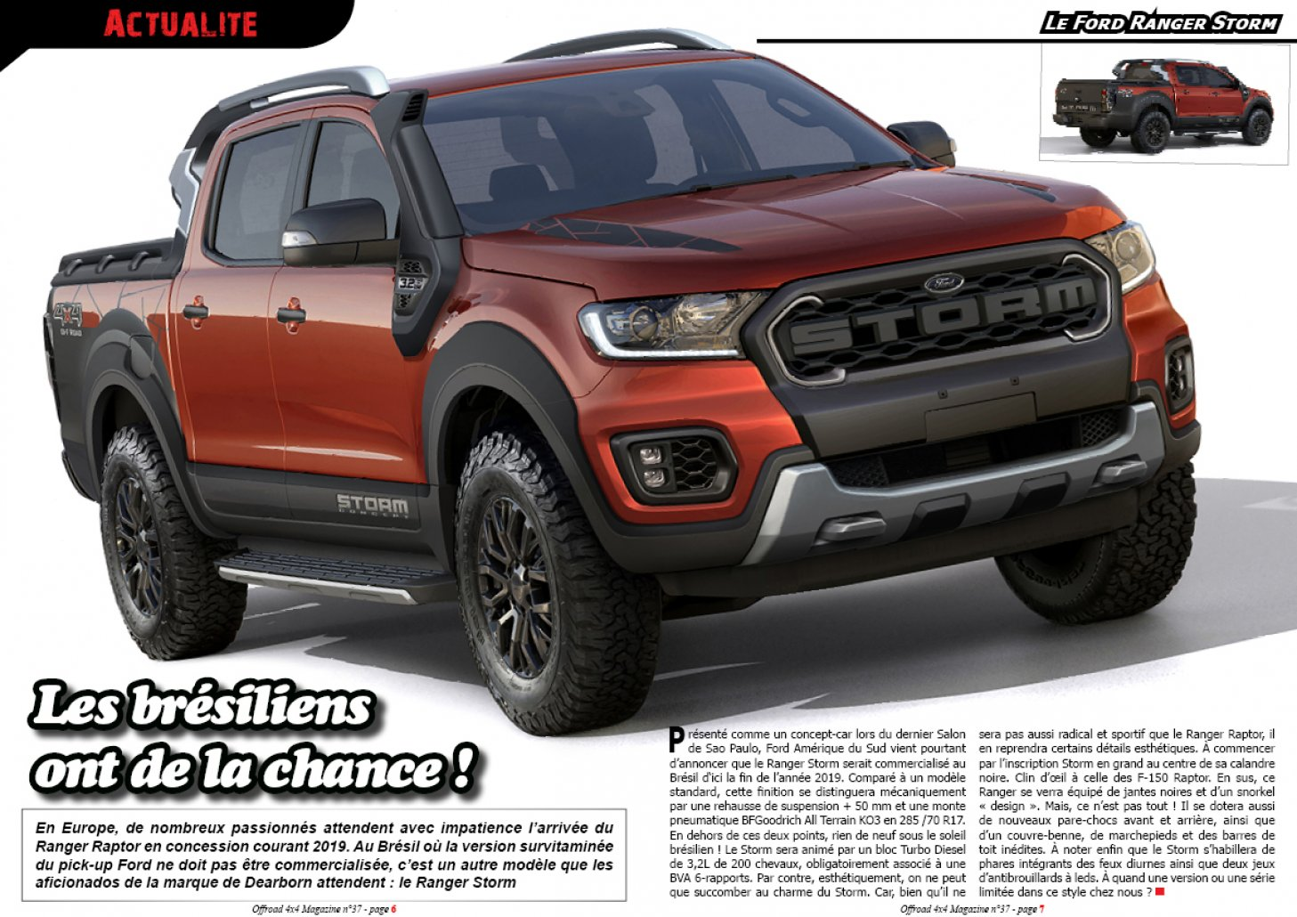 Le Ford Ranger Storm