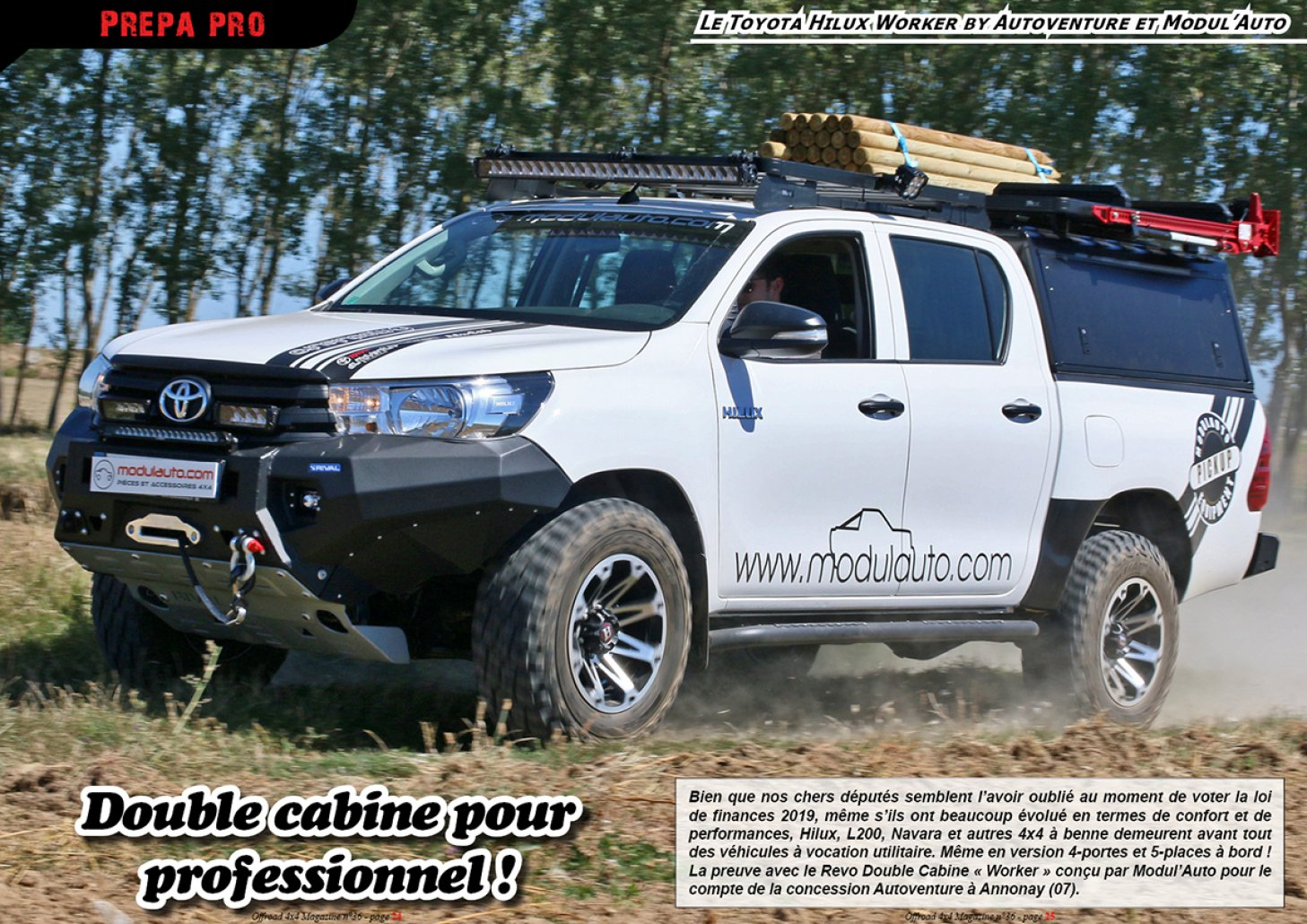 Le Toyota Hilux Worker by Modul'Auto