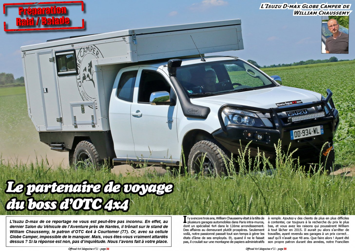 L'Isuzu D-max de William Chaussemy