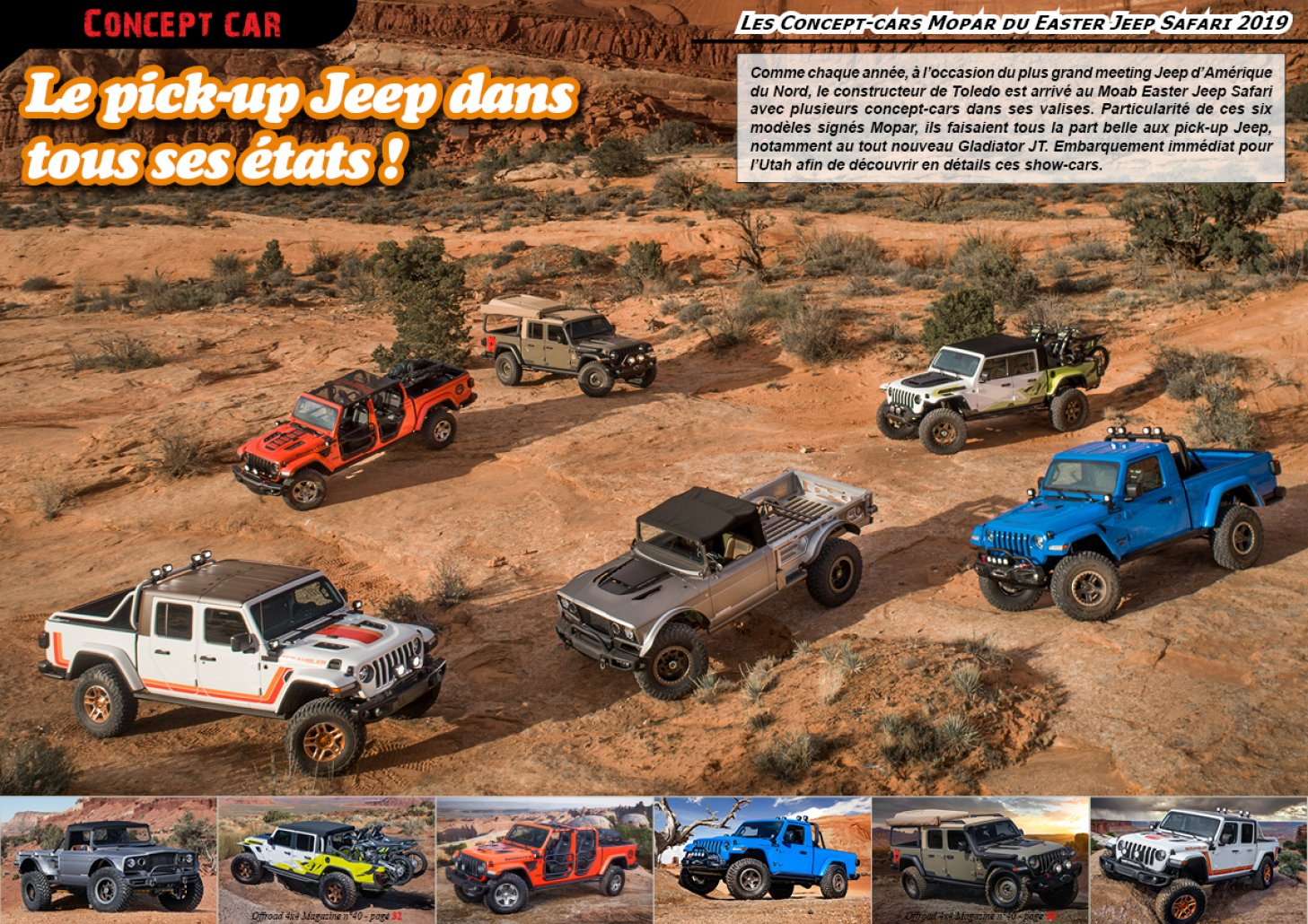 Les Jeep Mopar du Easter Safari 2019