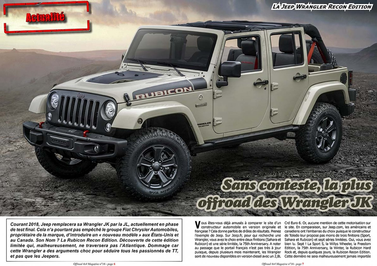 La Jeep Wrangler Recon Edition