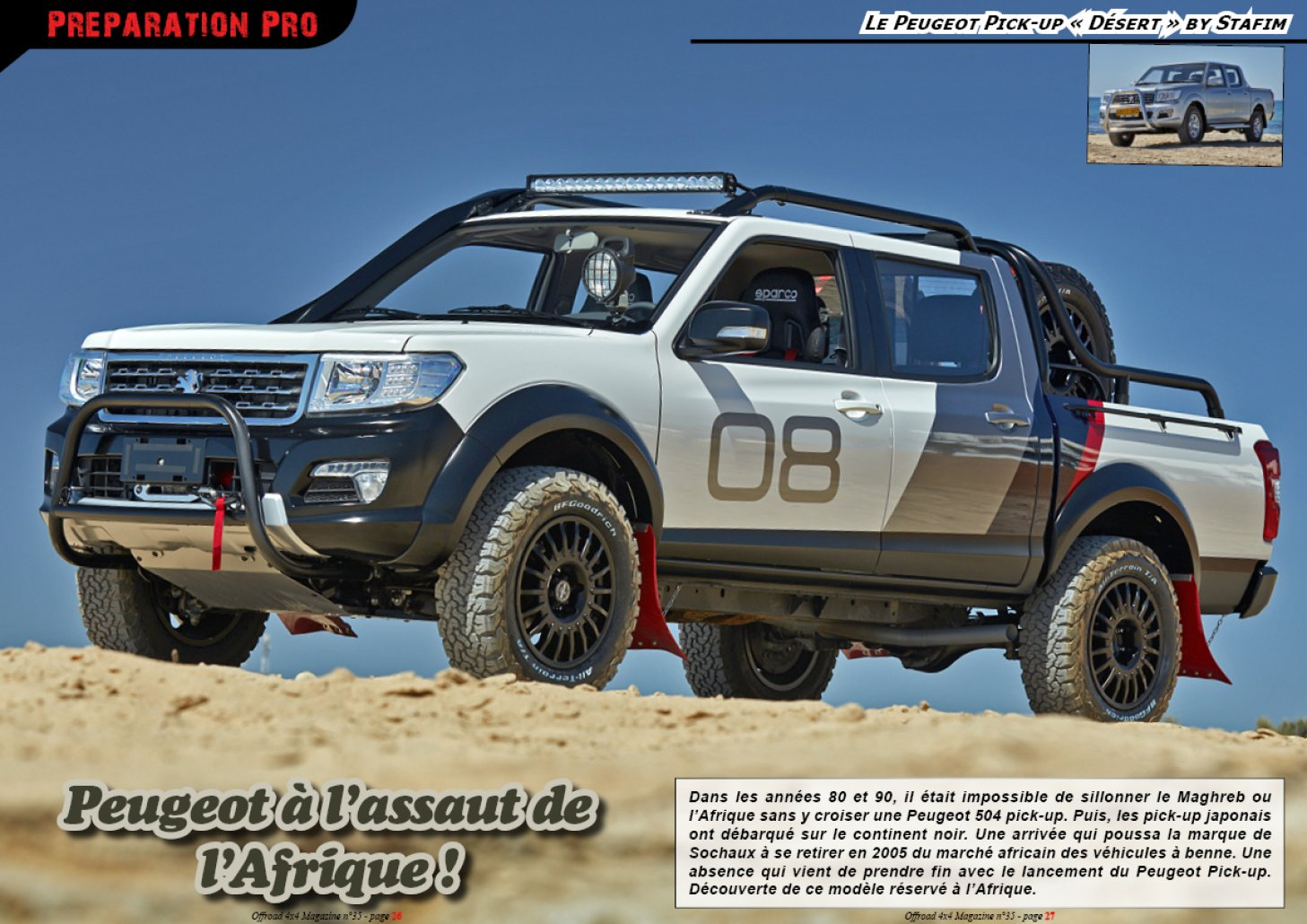 Le Peugeot Pick-up « Désert » by Stafim