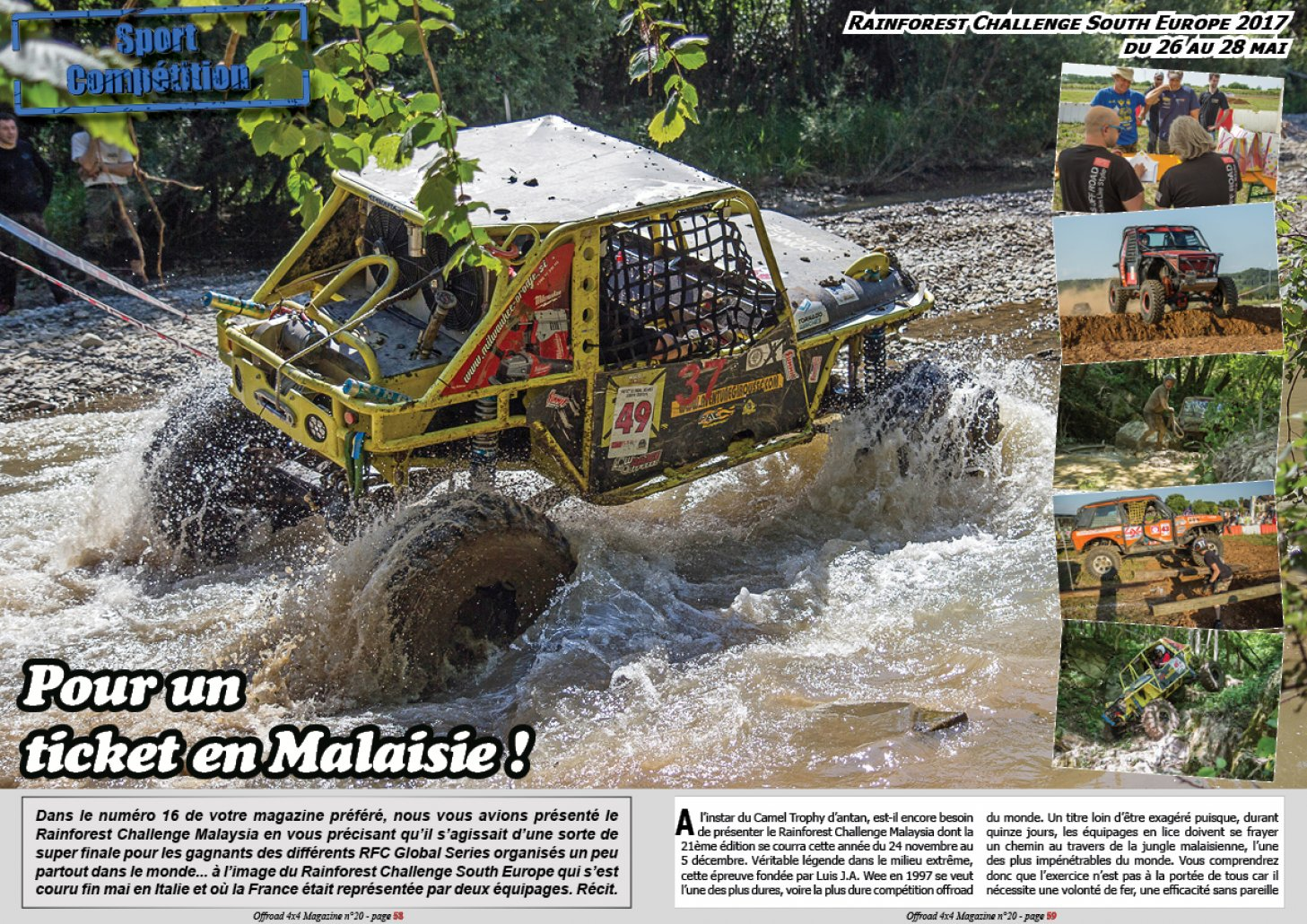 Le Rainforest Challenge South Europe 2017