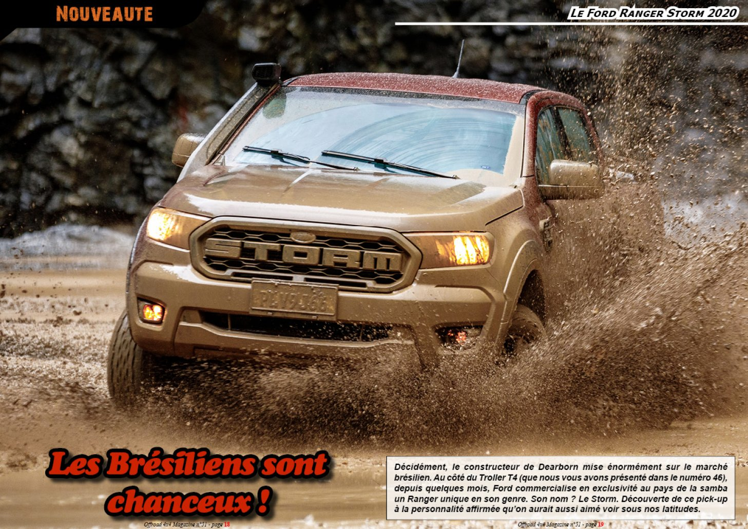 Le Ford Ranger Storm 2020