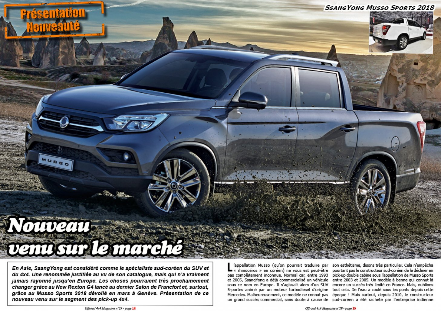 Le SsangYong Musso Sports 2018