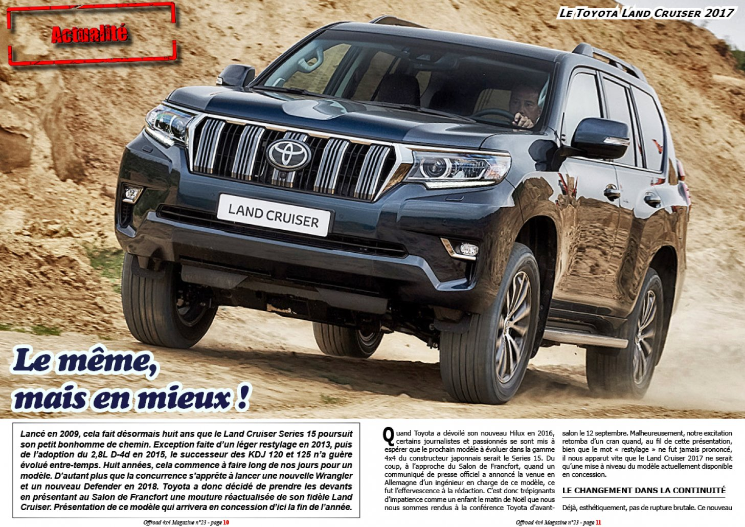 Le Toyota Land Cruiser 2017
