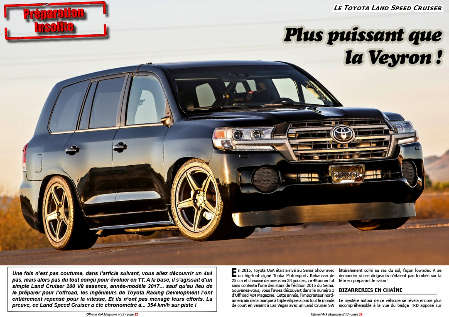 Le Toyota Land Speed Cruiser