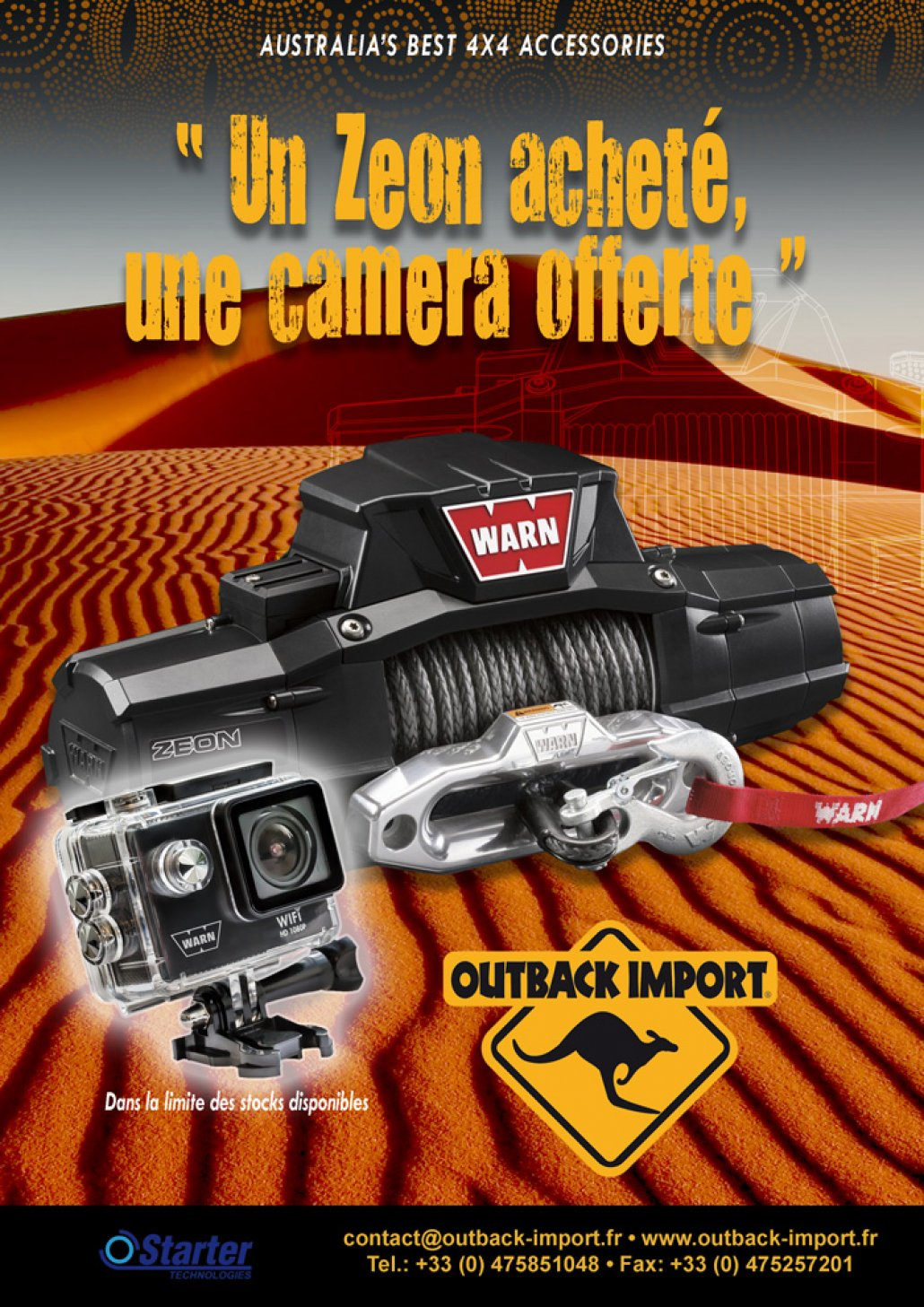 Promo Outback Import sur les Warn Zeon