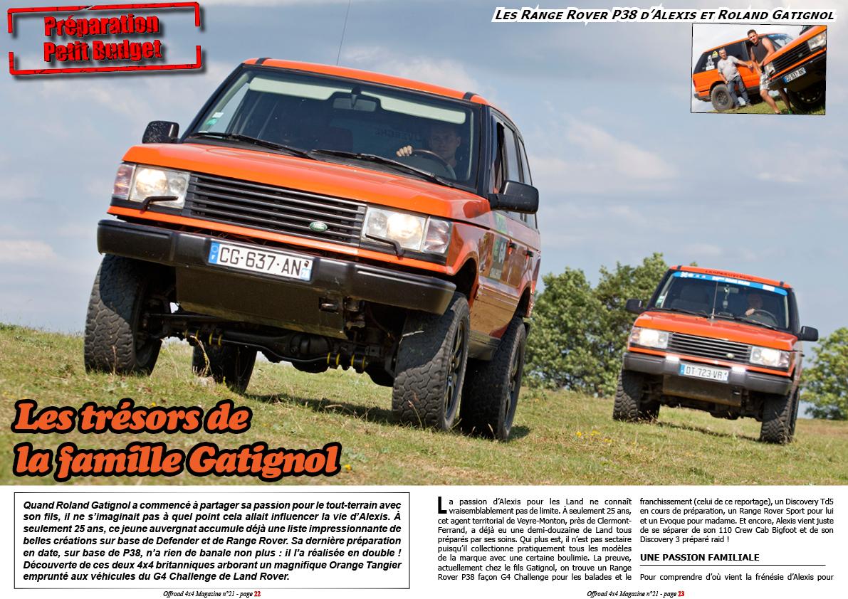 Les Range Rover P38 de la famille Gatignol