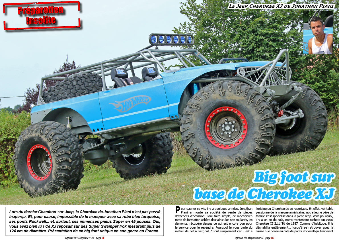 Le Jeep Cherokee XJ de Jonathan Piani