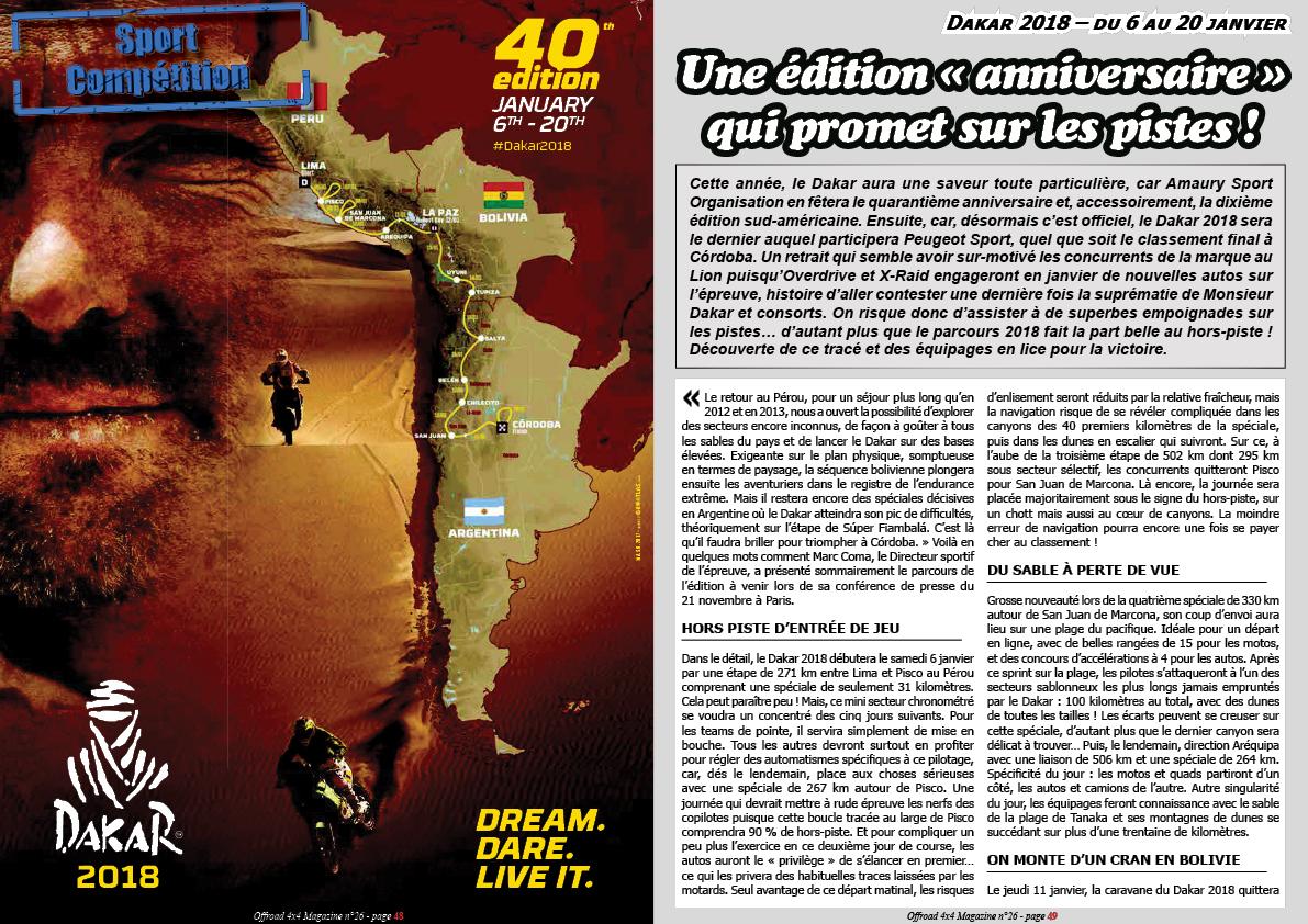 le guide du Dakar 2018