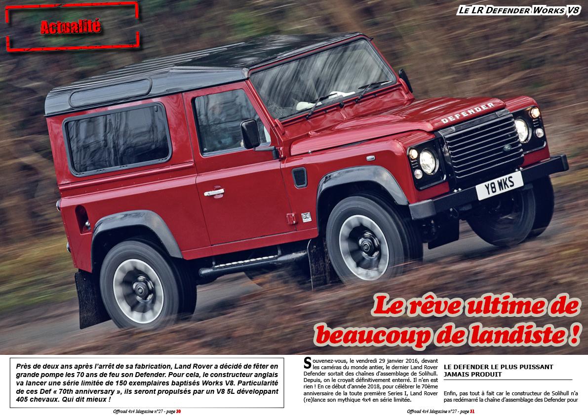 le Land Rover Defender Works V8