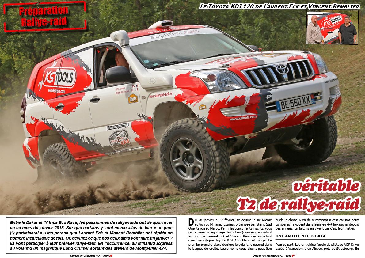 le Toyota KDJ 120 de Laurent Eck et Vincent Remblier