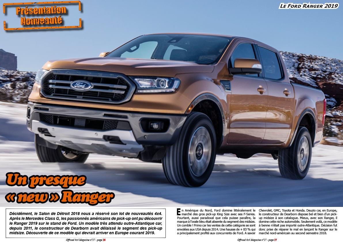 le Ford Ranger 2019