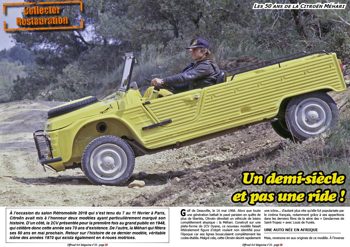 Les 50 ans de la Citroën Méhari