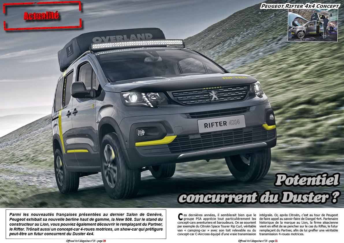 Le Peugeot Rifter 4x4 Concept