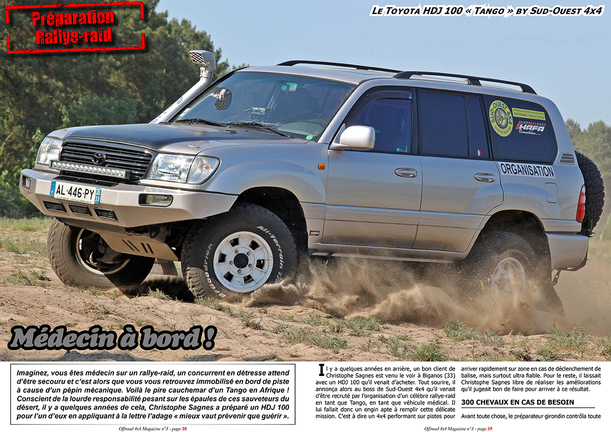 offroad 4x4 magazine le toyota hdj 100 tango de sud ouest 4x4. Black Bedroom Furniture Sets. Home Design Ideas