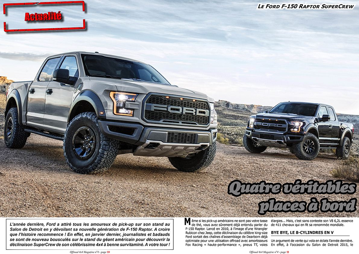 offroad 4x4 magazine le ford raptor supercrew 2017. Black Bedroom Furniture Sets. Home Design Ideas